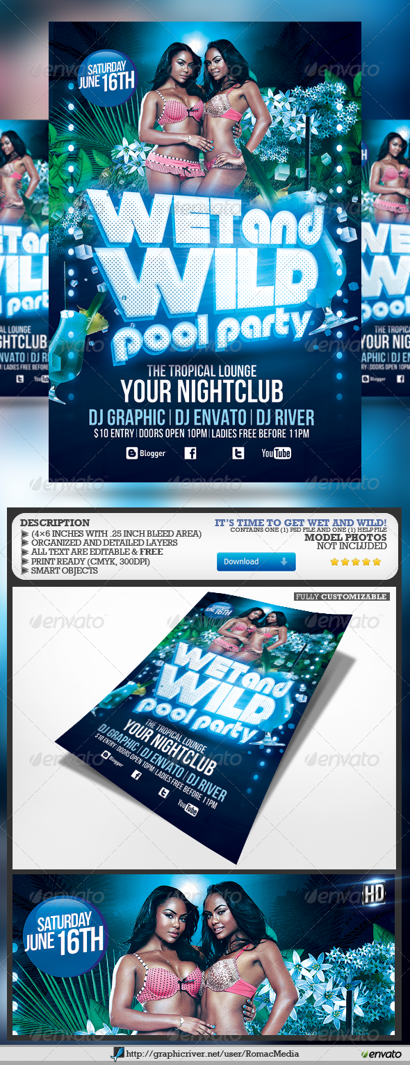 GraphicRiver Pool Party Flyer 4731399 Created: 27