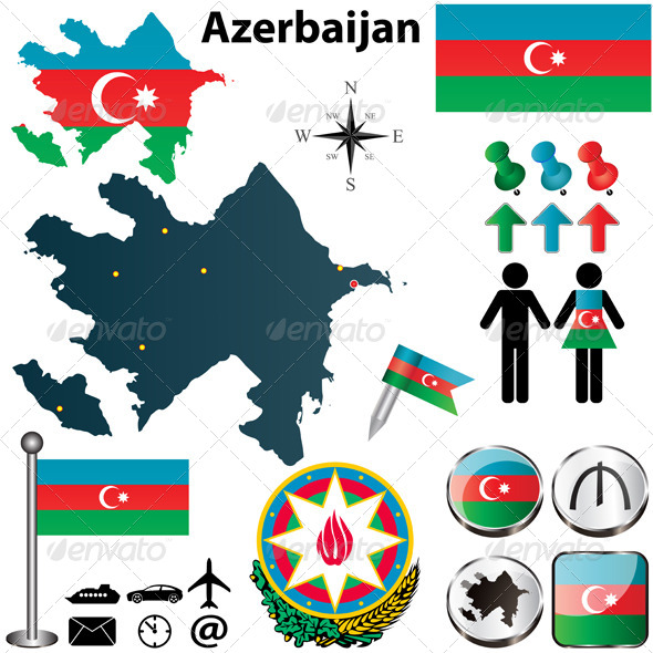 GraphicRiver Map of Azerbaijan 4809021