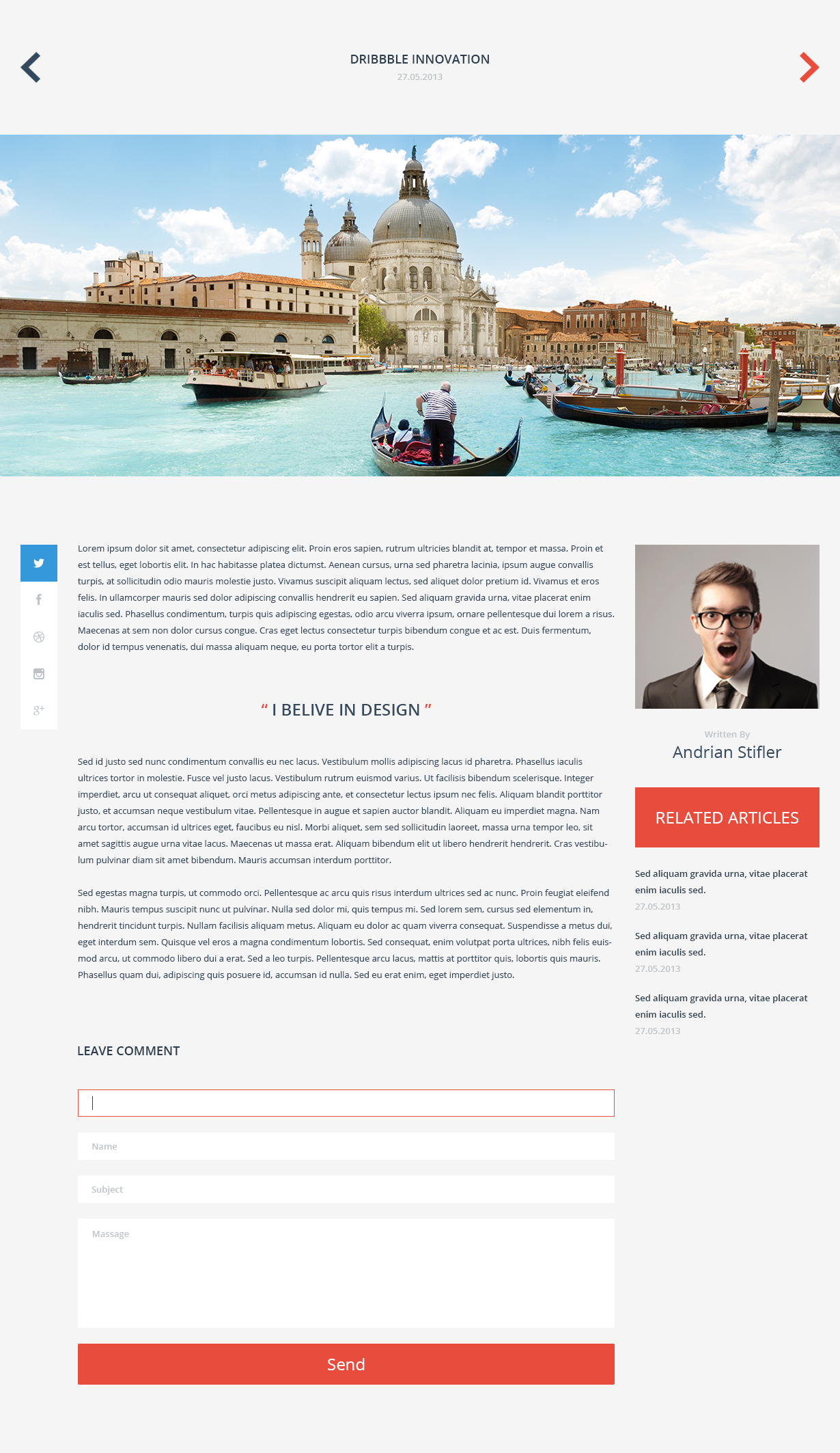 Second Gear - One Page Portfolio PSD Template - Screenshot 3