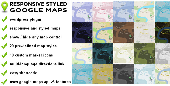 Themes Blogging Responsive Styled Google Maps Wordpress Plugin - Google maps themes