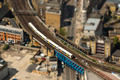 Train on a bridge in London, tilt-shift effect - PhotoDune Item for Sale