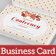 Vintage Rose Business Card - GraphicRiver Item for Sale