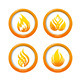 Fire Web Buttons Set - GraphicRiver Item for Sale