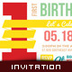 Kid's Happy Birthday Card - Invitation Template