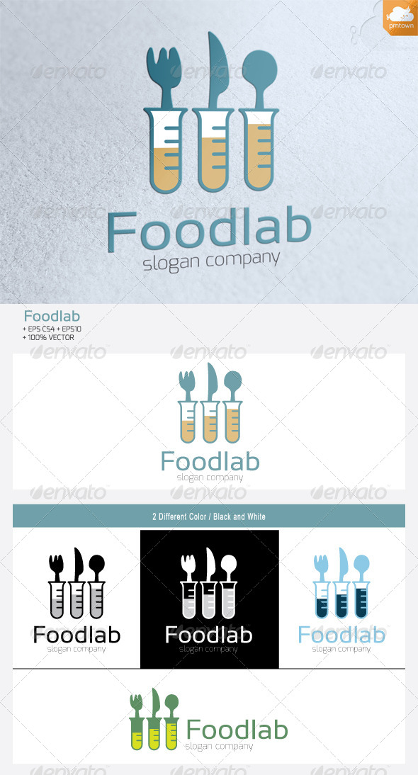 GraphicRiver FoodLab Logo 4812618
