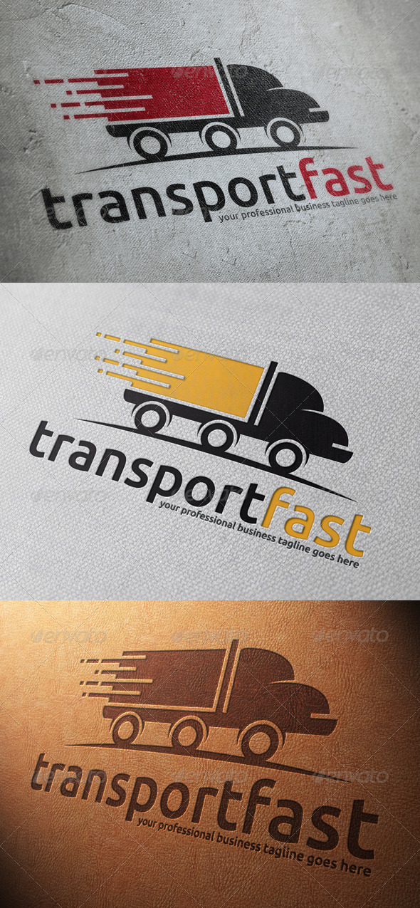 GraphicRiver Transport Truck Logo Template 4812737