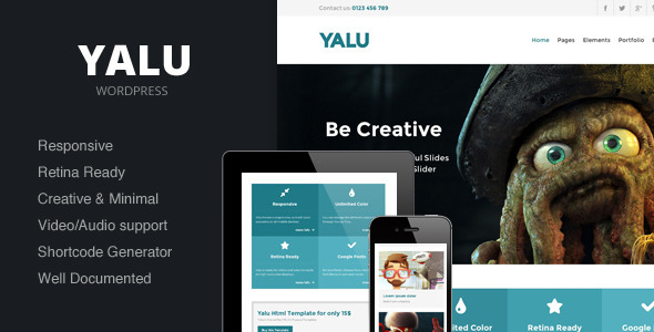 ThemeForest Yalu Creative Multipurpose Template Wordpress 4812936