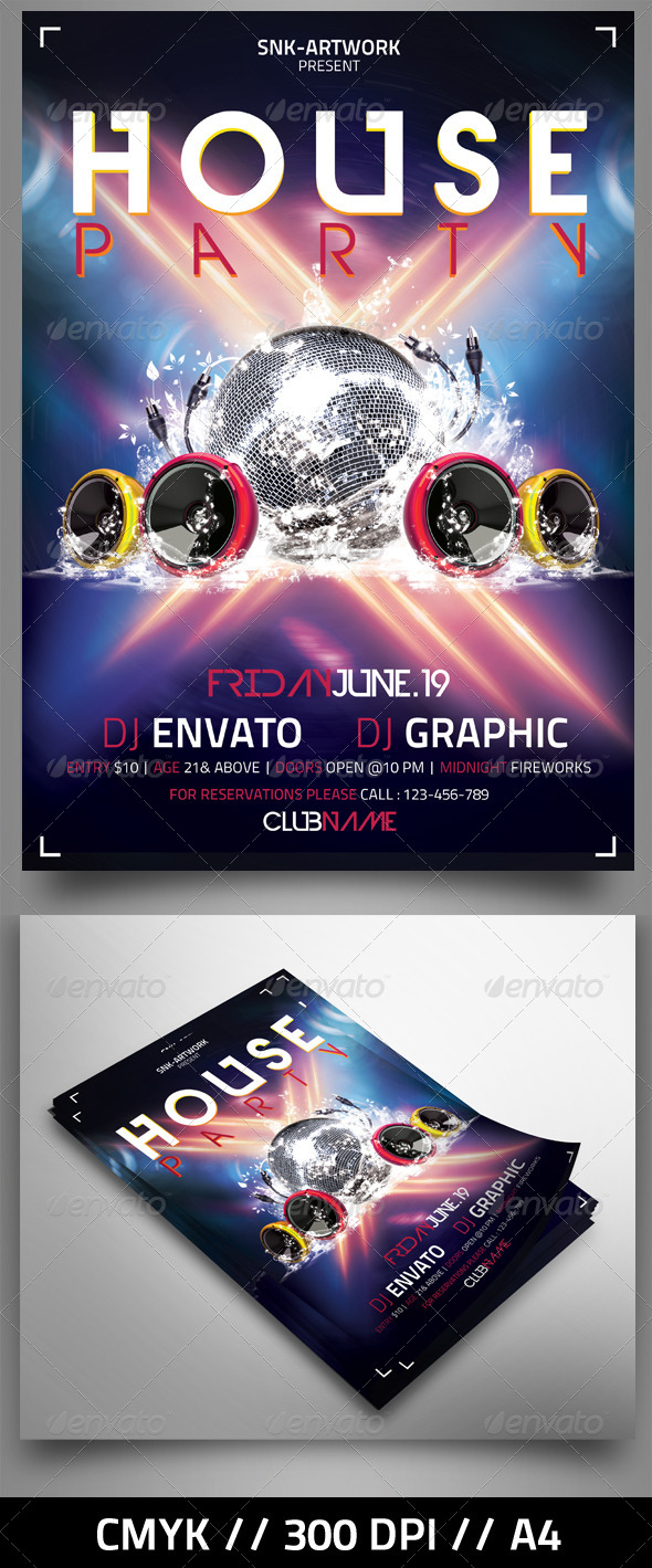 GraphicRiver Massive Party Flyer 4576023 Created: