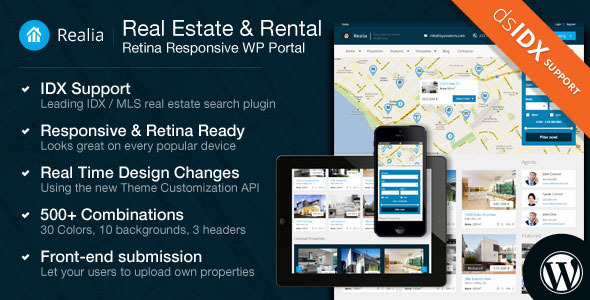 ThemeForest Realia Responsive Real Estate WordPress Theme 4789838