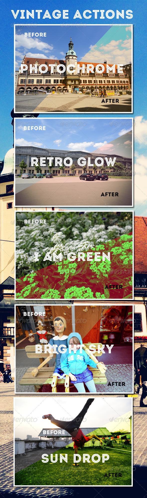 GraphicRiver Photoshop Vintage Actions Set 4813757