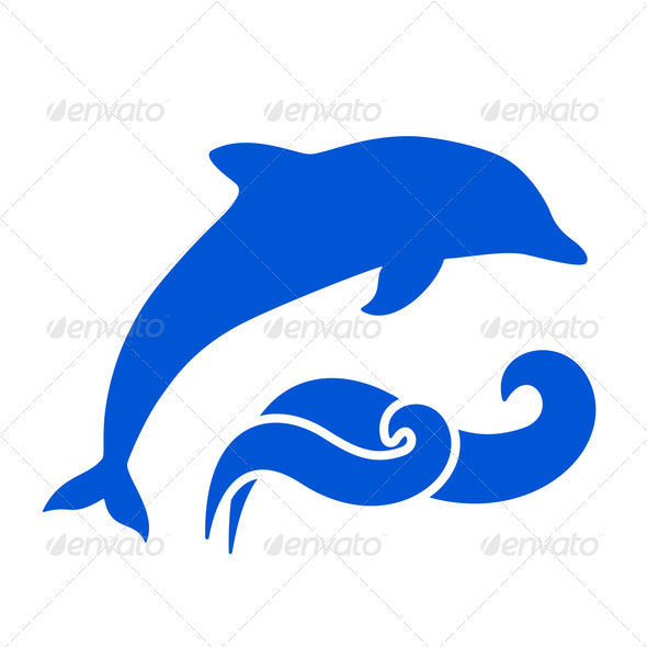 Silhouette of Dolphin, Dolphin Silhouettes, Dolphin Vector, Ocean ...