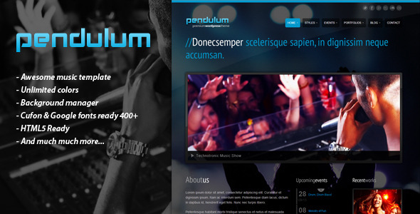 PENDULUM – Premium Wordpress Theme - Portfolio Creative