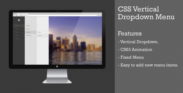 CodeCanyon Css Vertical Dropdown Menu 4747177