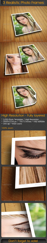 GraphicRiver 3 Realistic Photo Frames 4815294