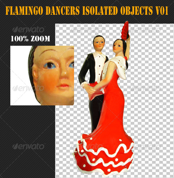 GraphicRiver Flamingo Dancers Isolated Objects V01 4815467