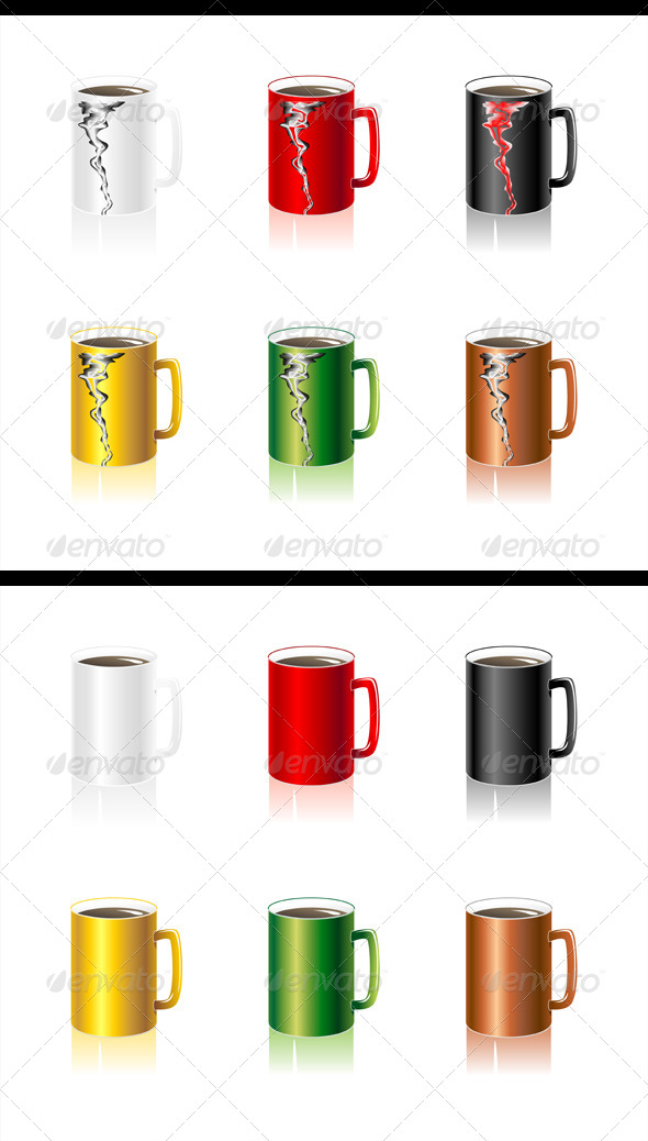 GraphicRiver Set Colorful Cups 4816381