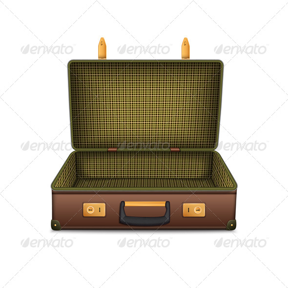 GraphicRiver Empty Retro Suitcase 4808231