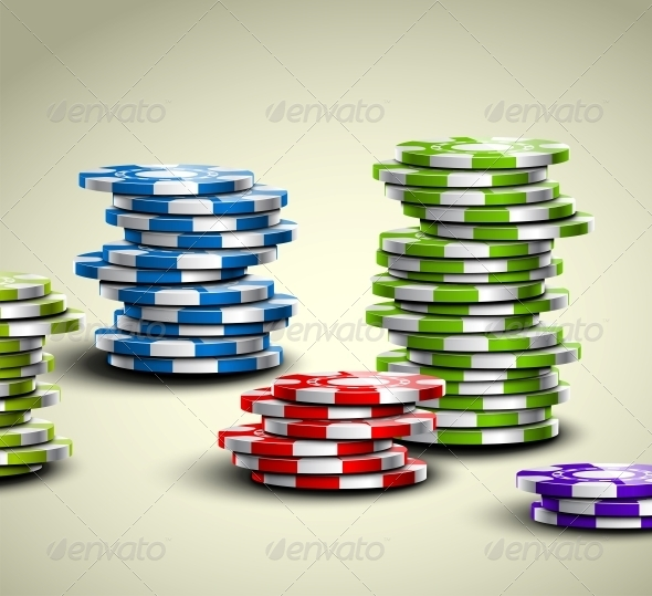 GraphicRiver Colorful Casino Chips 4817364