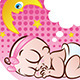 Sleeping Baby Girl - GraphicRiver Item for Sale