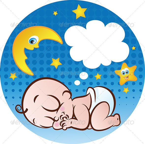 GraphicRiver Sleeping Baby Boy 4818274