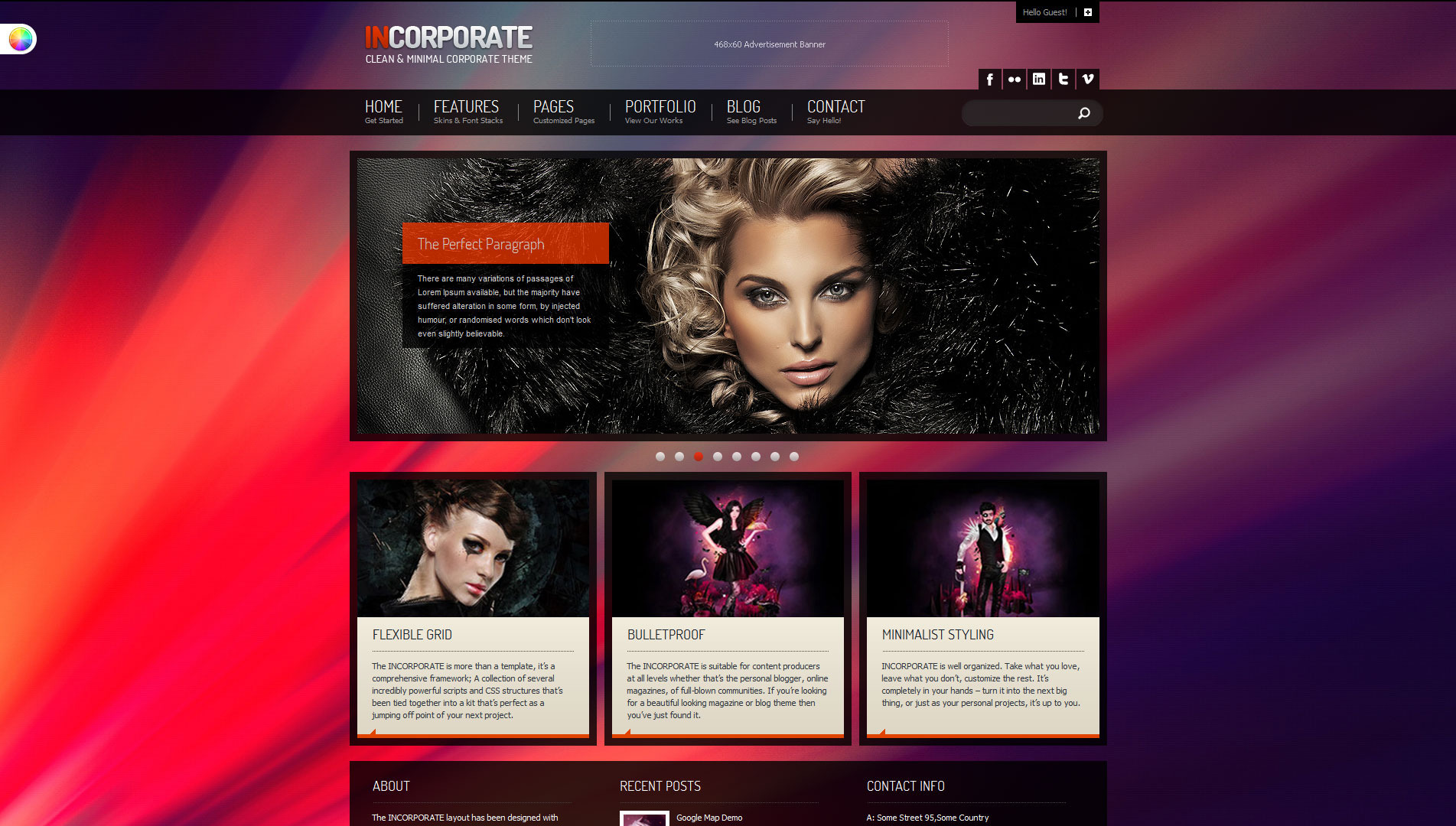 Incorporate WordPress Template - Home Page With Optional High-Res Full Background Image