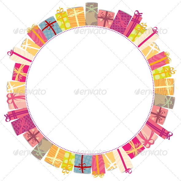 GraphicRiver Circle Gift Frame 4819259