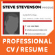 Professional CV / Resume - GraphicRiver Item for Sale