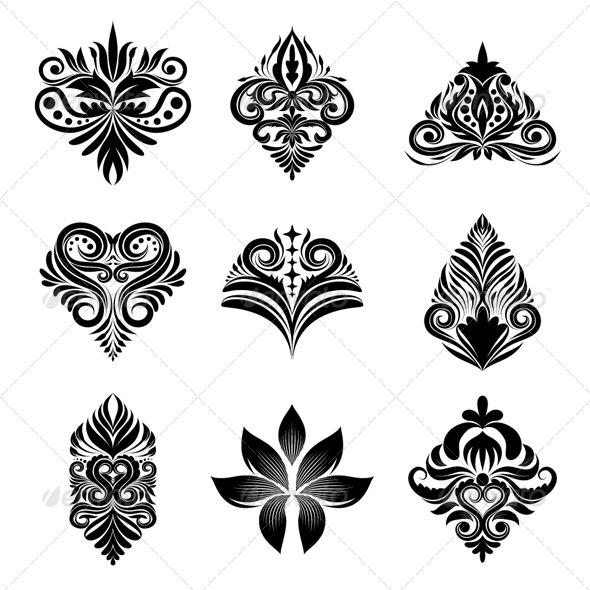 GraphicRiver Icon Ornamental Set 4819584