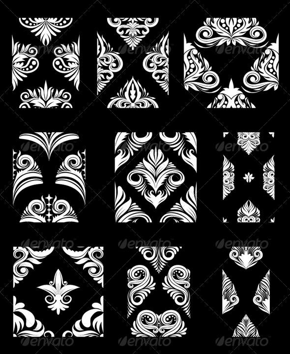 GraphicRiver Ornamental Pattern Set 4819648