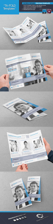 GraphicRiver Global World Tri-Fold Template 4819716