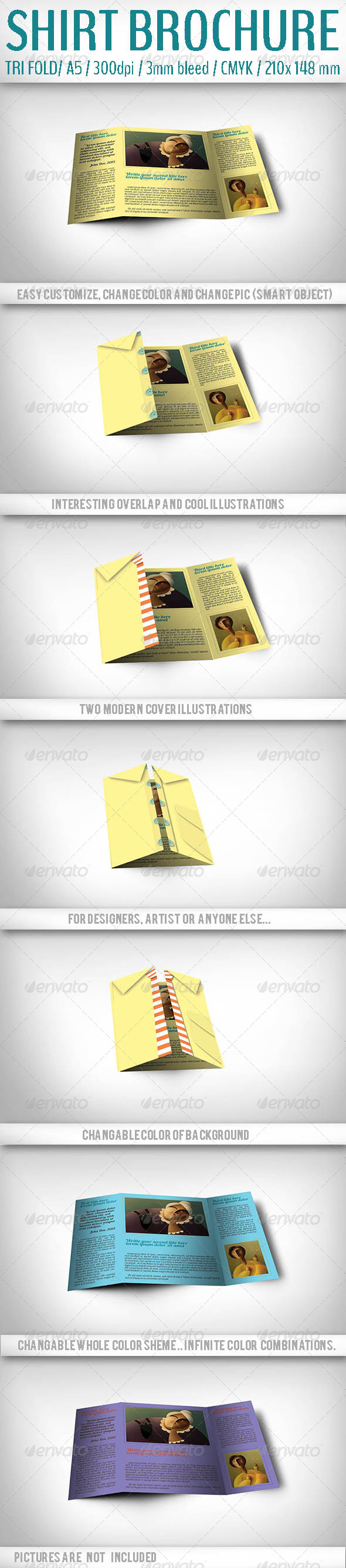 GraphicRiver Trifold Shirt Brochure 4822327
