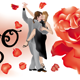 Tango Dancers with Red Rose - GraphicRiver Item for Sale