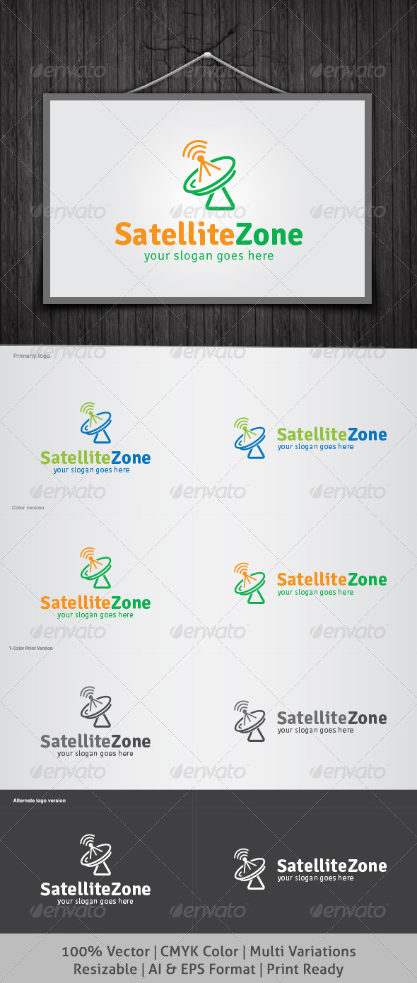 Satellite Zone Logo - Objects Logo Templates