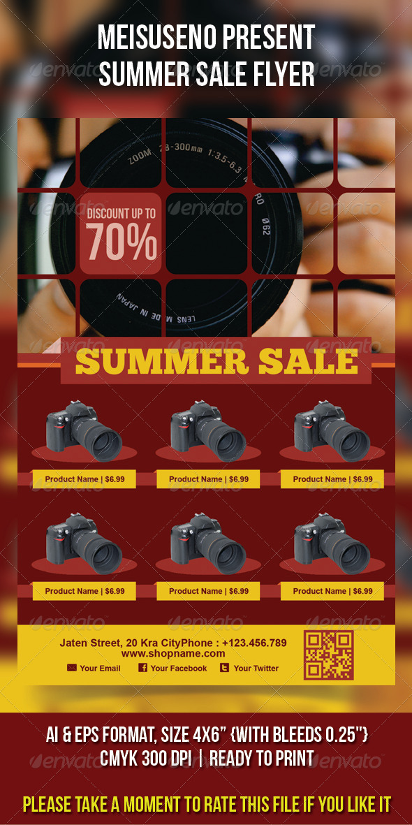 GraphicRiver Summer Sale Flyer 4730953