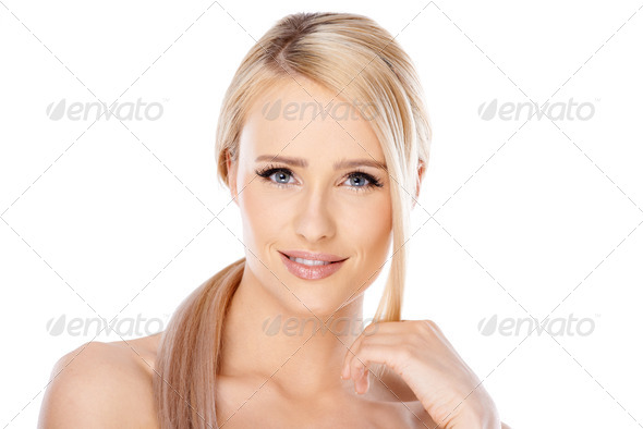 Beauty portrait of blond woman - Stock Photo - Images