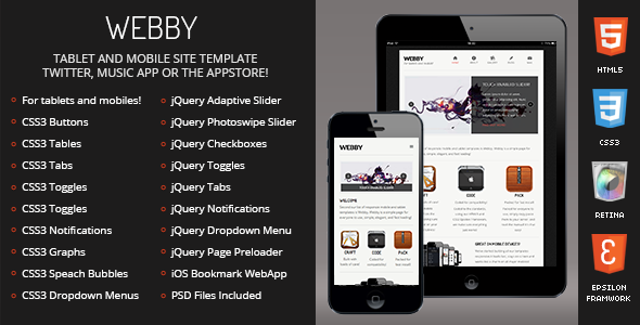 Webby | Mobile & Tablet Responsive Template