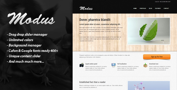 MODUS – Premium Wordpress Theme