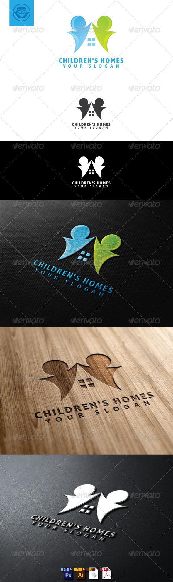 GraphicRiver Children Homes Logo Template 4824862