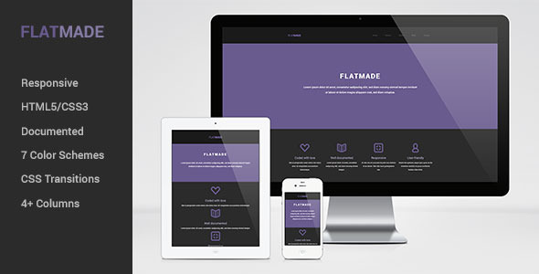 ThemeForest FLATMADE Responsive HTML5 Theme 4803012