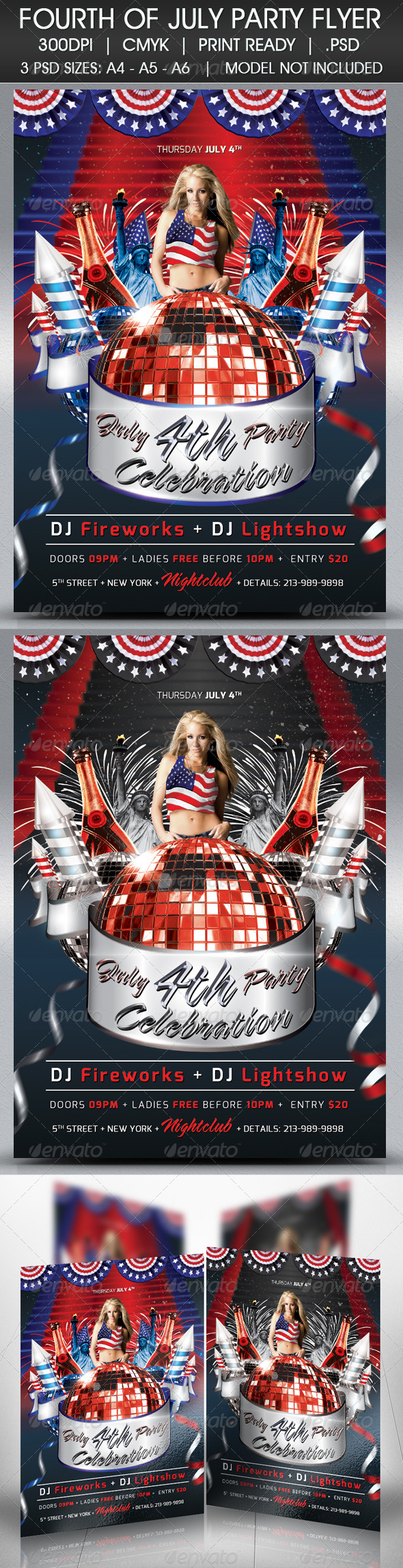 GraphicRiver Happy 4th of July Flyer 4727903