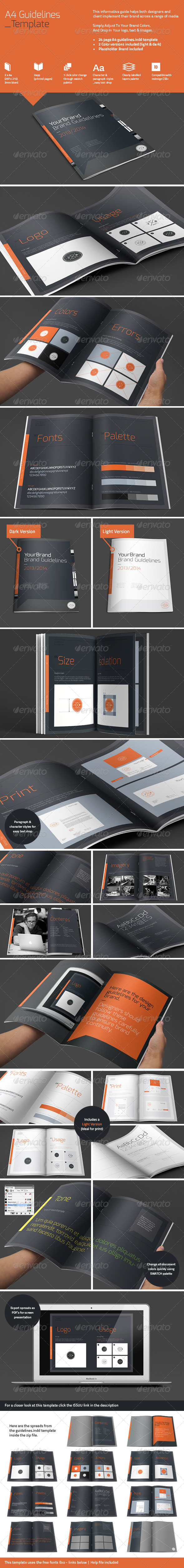 GraphicRiver A4 Brand Guidelines 4825619