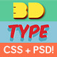 Extruded CSS Type Styles (+PSD) - CodeCanyon Item for Sale