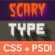 Scary CSS Type Styles (+PSD) - CodeCanyon Item for Sale
