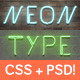 Neon CSS Type Styles (+PSD) - CodeCanyon Item for Sale