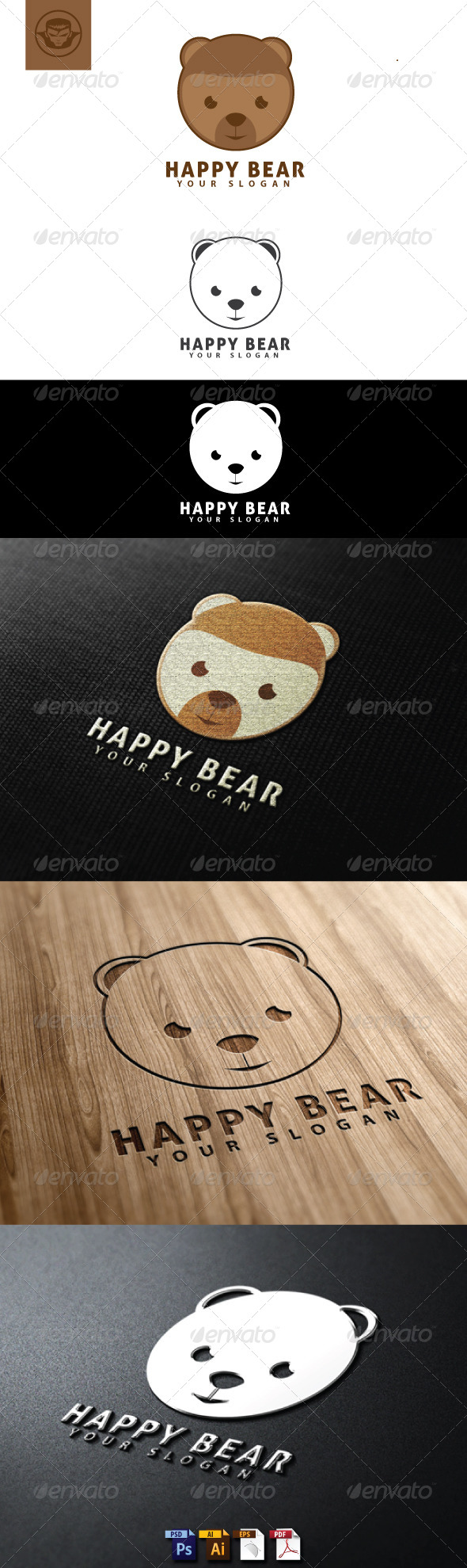 GraphicRiver Happy Bear Logo Template 4818438