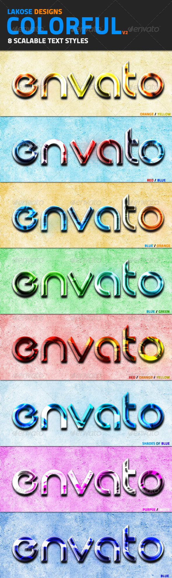 GraphicRiver Colorful Text Styles V2 4802606