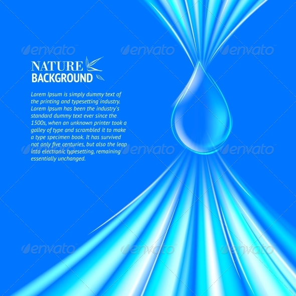 GraphicRiver Blue Water Drop Background 4827067