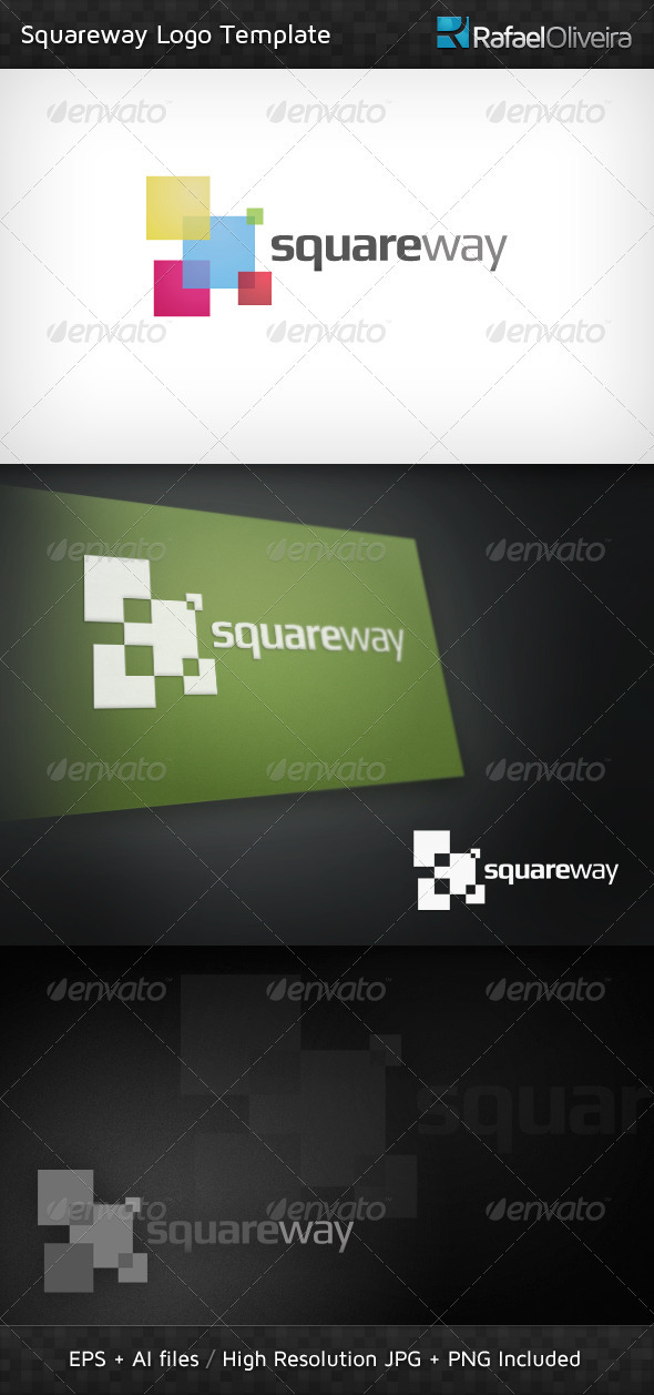squareway logo template by rafael oliveira