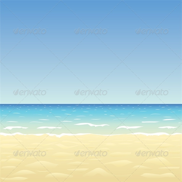 GraphicRiver Blue Sky Ocean and Beach 4828018