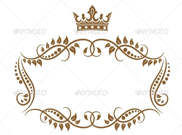 GraphicRiver Elegant Royal Medieval Frame with Crown 4828808